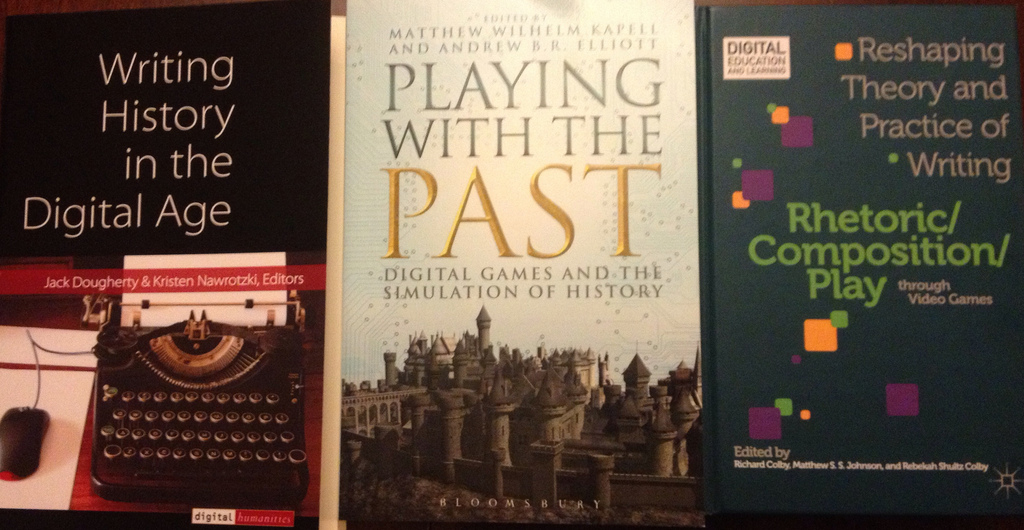 Three books essays of mine appeared in this year; Writing History in the Digital Age, Playing with the Past, and Rethoric, Composition, Play